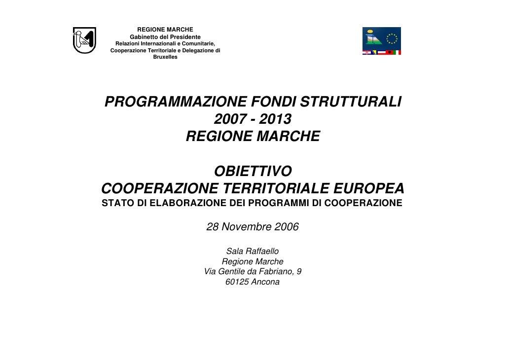 Programmazione 2007 2013 ]