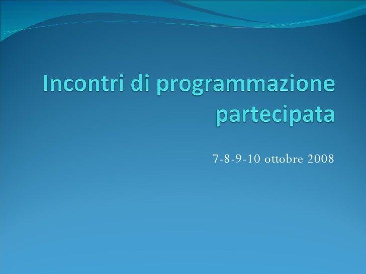 Programmazione Partecipata 2008