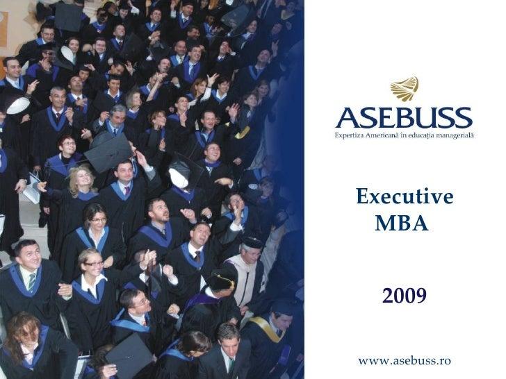 Executive MBA  2009