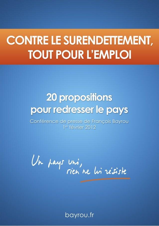 Programme de François Bayrou