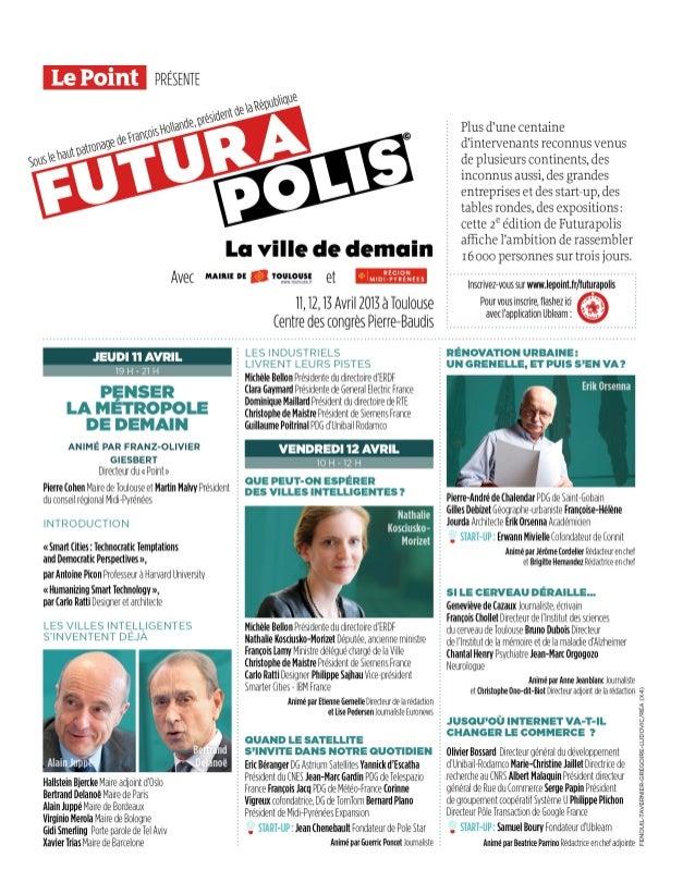 Futurapolis 2013, le programme