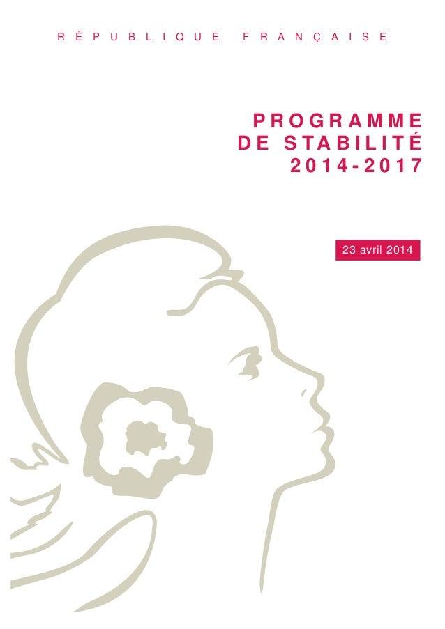 Le programme de stabilité 2014-2017