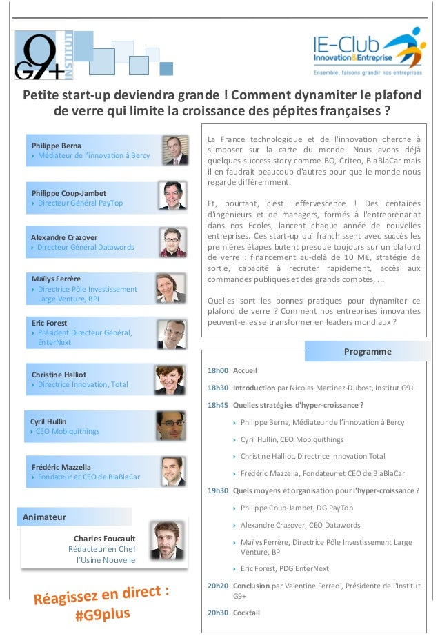 Petite start-up deviendra grande ! Comment dynamiter le plafond de verre qui limite la croissance des pépites françaises ?...