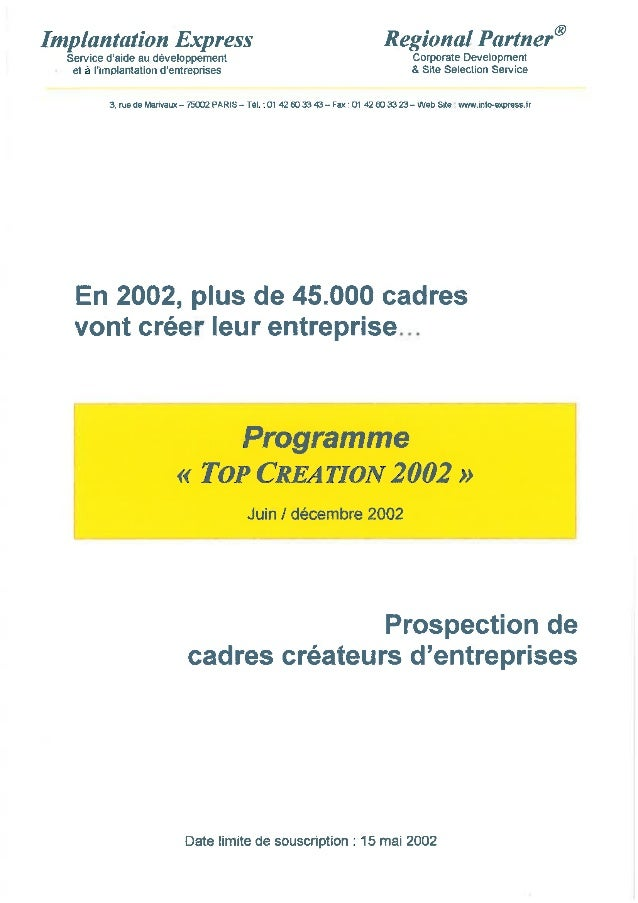 Programme 2002 Top Création