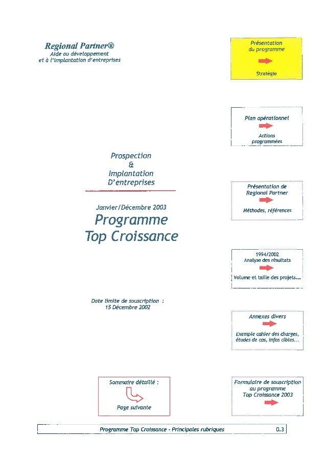 Programme 2003 Top Croissance
