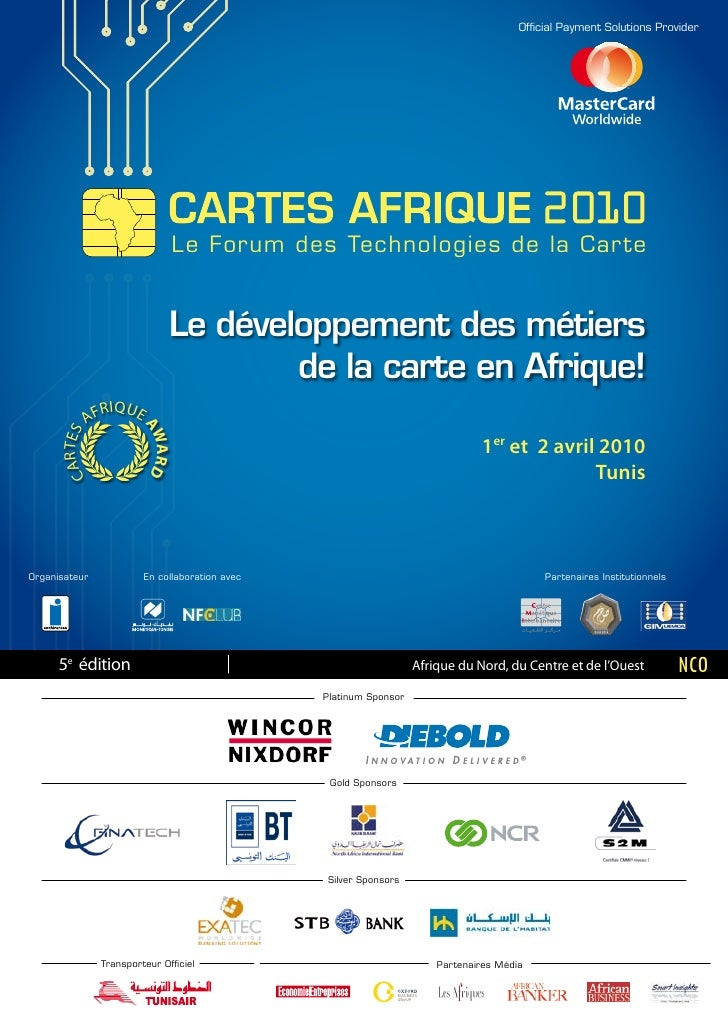 Official Payment Solutions Provider                                        Le Forum des Technologies de la Car te         ...
