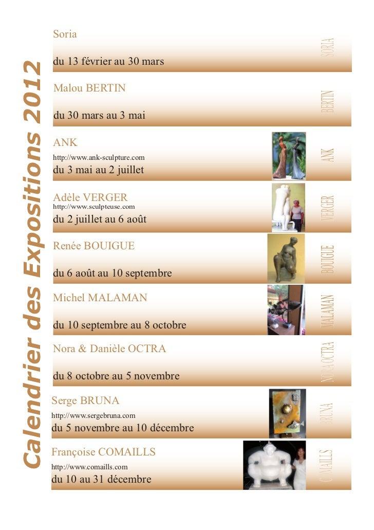 Programme des Expos 2012