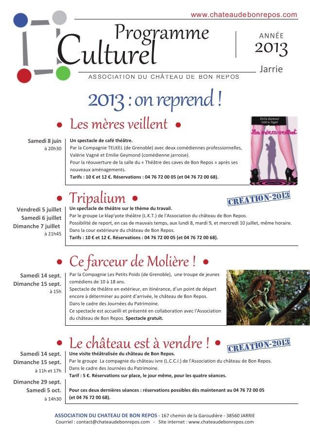 C                                        www. chateaudebonrepos. com    AS S O C I AT I O N D U C H ÂT E AU D E B O N RE P...