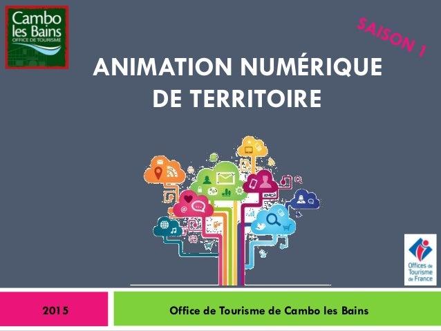 ANIMATION NUMÉRIQUE DE TERRITOIRE 2015 Office de Tourisme de Cambo les Bains