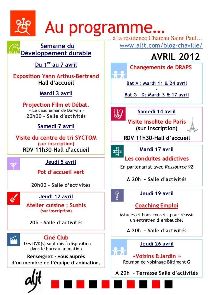Programme d avril
