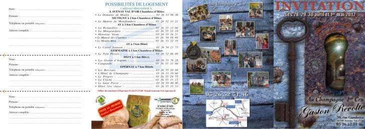 Le programme et les exposants des Caves Ouvertes 2012 chez Gaston Révolte