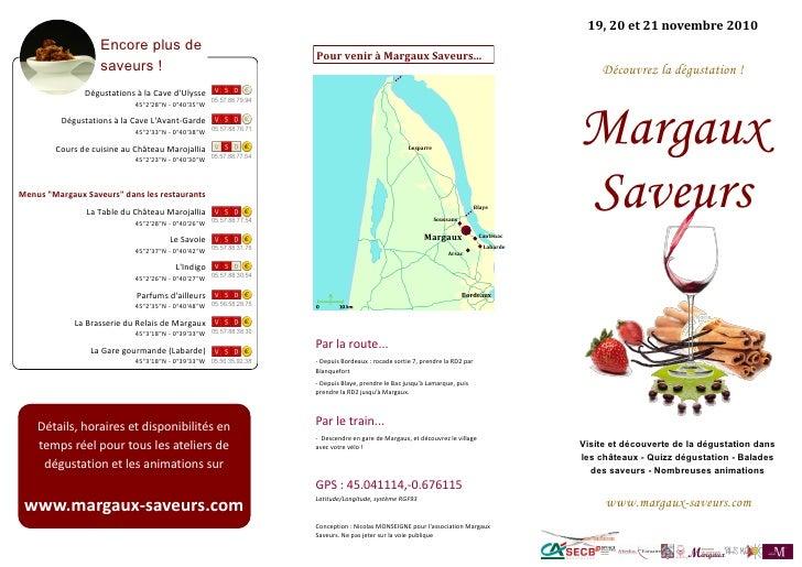 "Programme ""Margaux Saveurs"" 2010"
