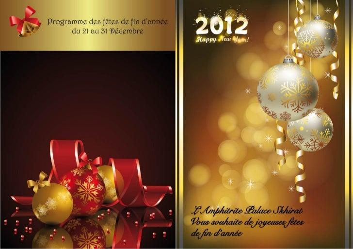 Programme Noel 2011 - L\'Amphitrite Palace