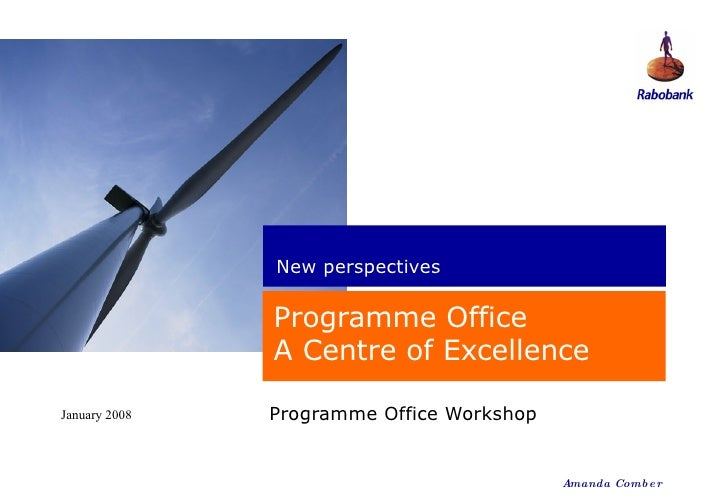 Programme Office   The Centre Of Excellence (Ar)