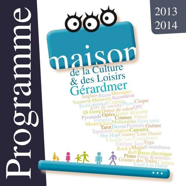 Programme rentree MCL de Gérardmer