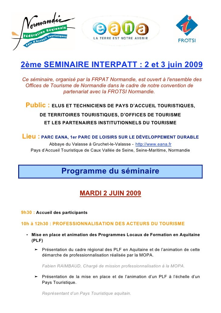 Programme Seminaire INTERPATT