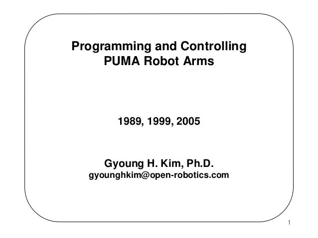2013 Programming And Controlling Puma Arms