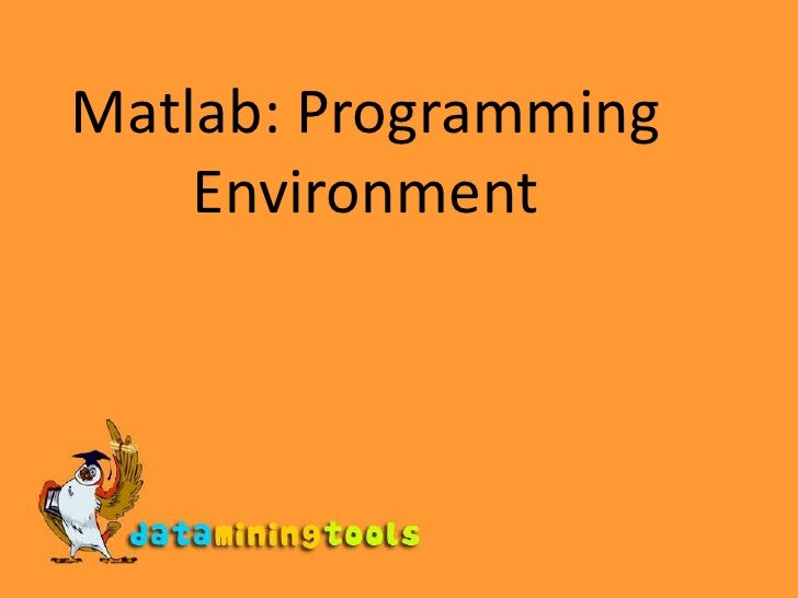 Matlab: Programming Environment