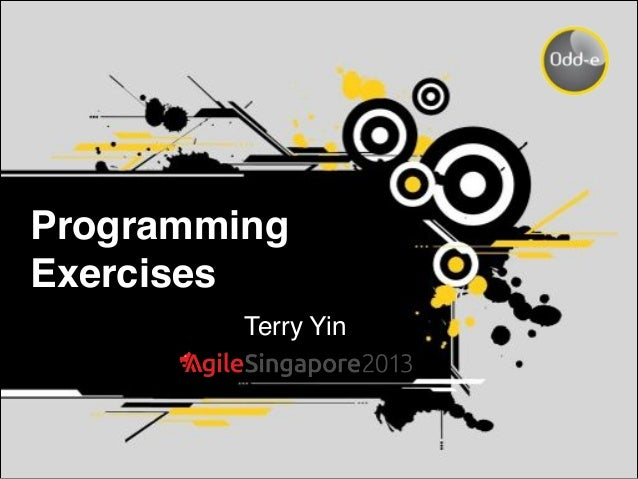 Programming Exercises Terry Yin