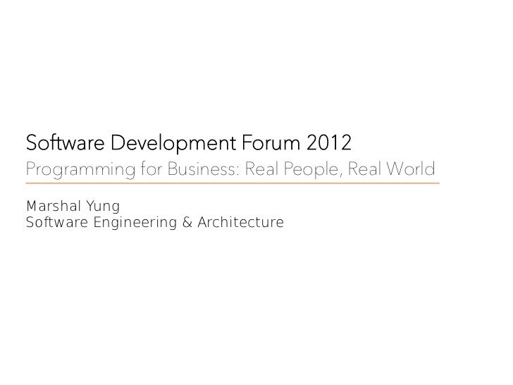 Programming for Business: Real People, Real World