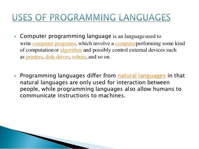 Essay programming languages