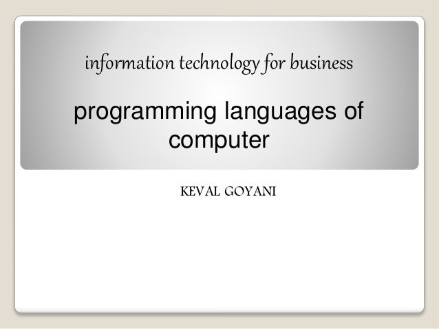 Computer Programming subjects