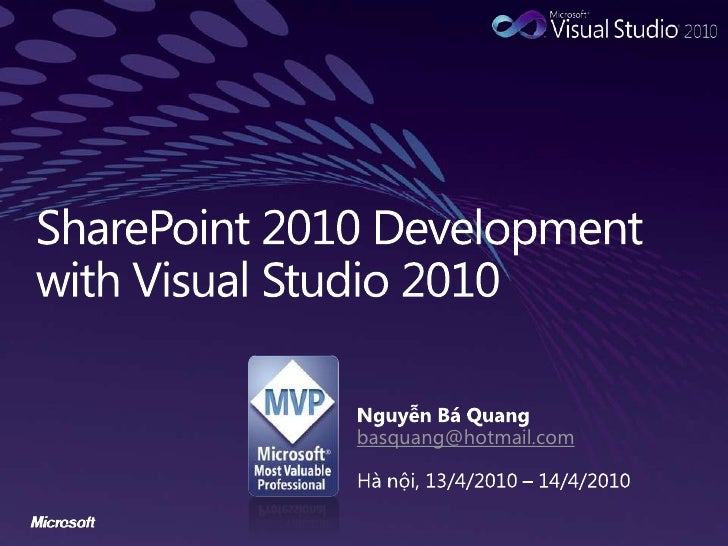 Programming SharePoint 2010 with Visual Studio 2010