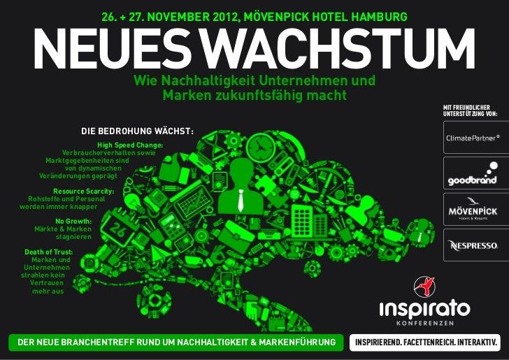 26. + 27. NOVEMBER 2012, MöVENPiCK HOTEl HaMBURG  NEUEs waCHsTUM              wie Nachhaltigkeit Unternehmen und          ...