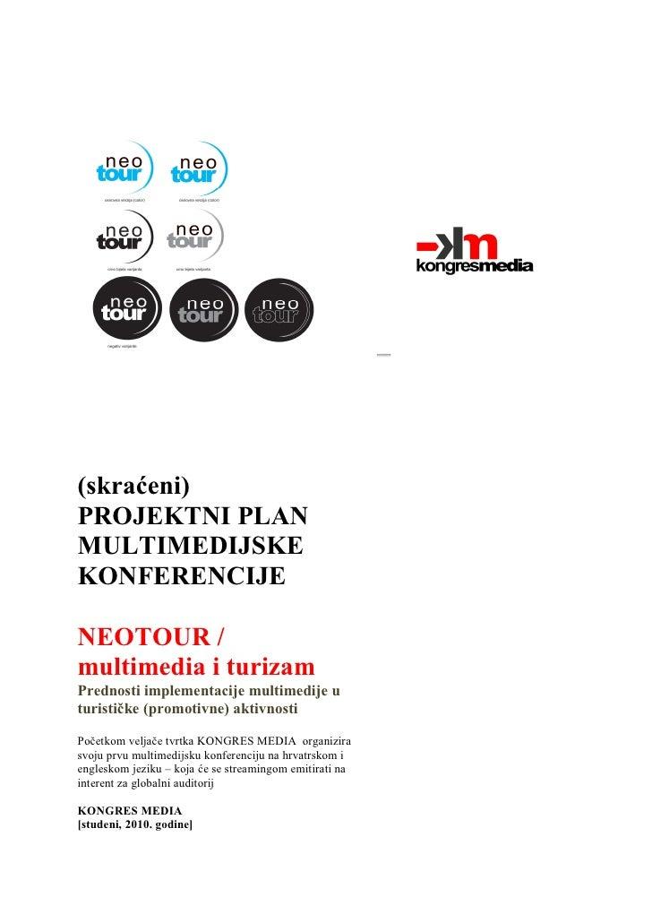 Program multimedijske konferencije NeoTOUR