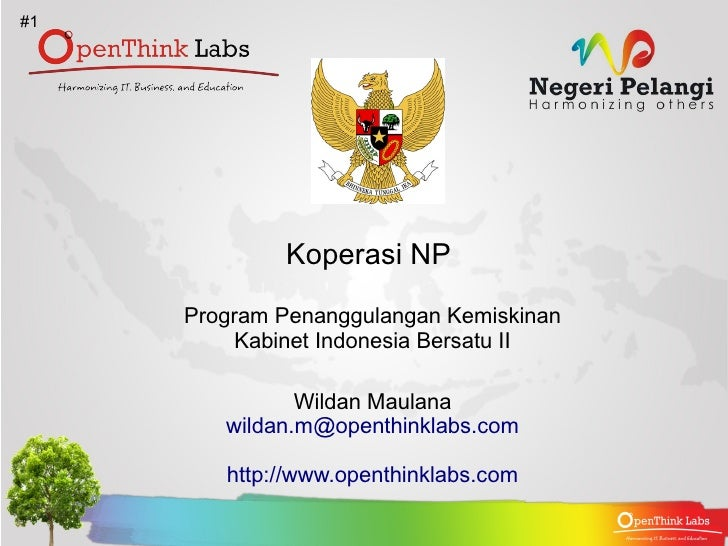 Koperasi NP : Program Penanggulangan Kemiskinan Kabinet Indonesia Bersatu II , #1