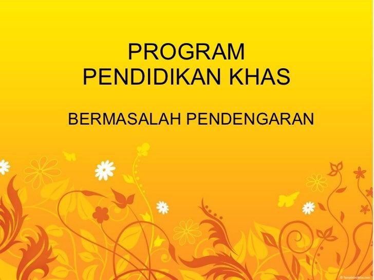 Program pendidikan khas 2009