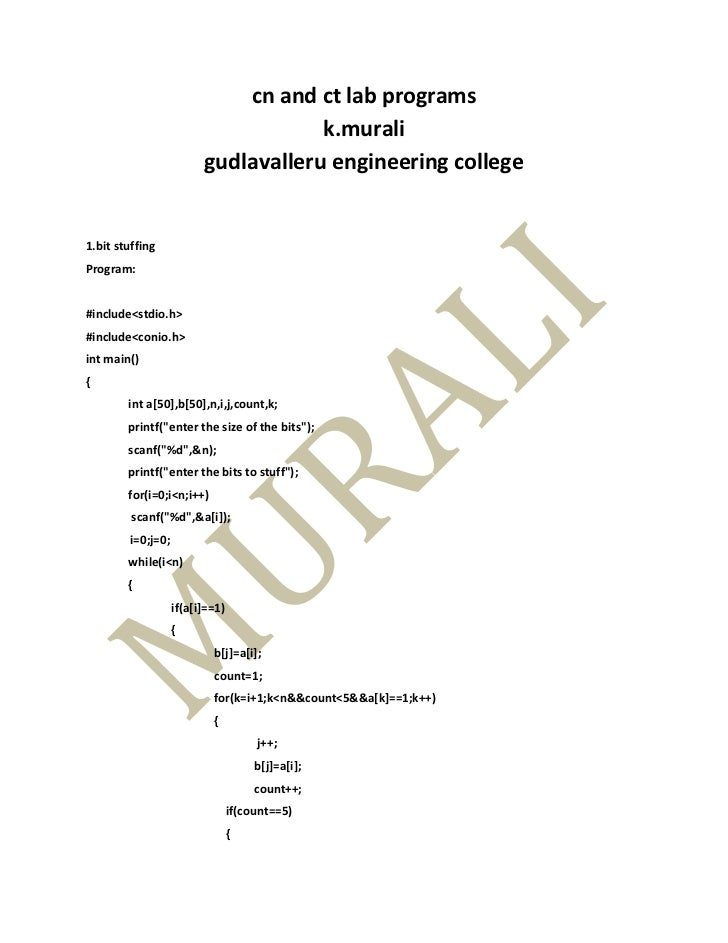 cn and ct lab programs                                     k.murali                         gudlavalleru engineering colle...