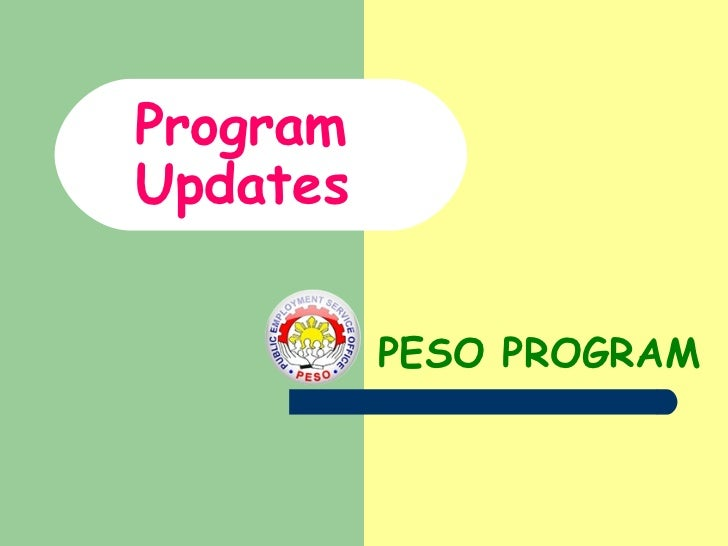 ProgramUpdates          PESO PROGRAM