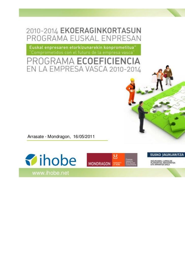 Programa Ecoeficiencia en la empresa vasca 2010-2014