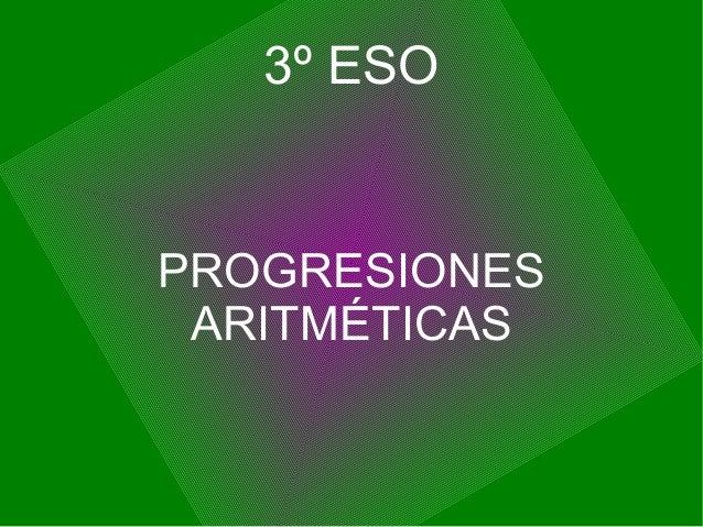3º ESOPROGRESIONES ARITMÉTICAS