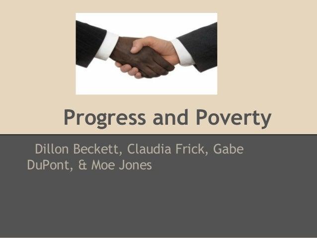 Progressand poverty