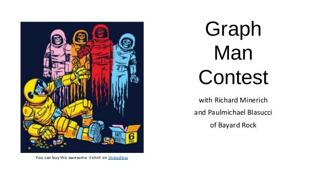 Graph Man Contest with Richard Minerich and Paulmichael Blasucci of Bayard Rock You can buy this awesome t-shirt on thread...