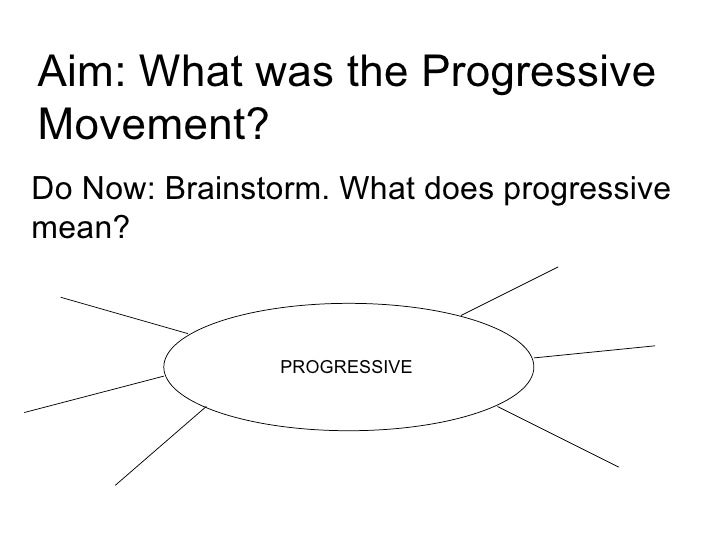 Aim: What was the Progressive Movement? Do Now: Brainstorm. What does progressive mean? PROGRESSIVE
