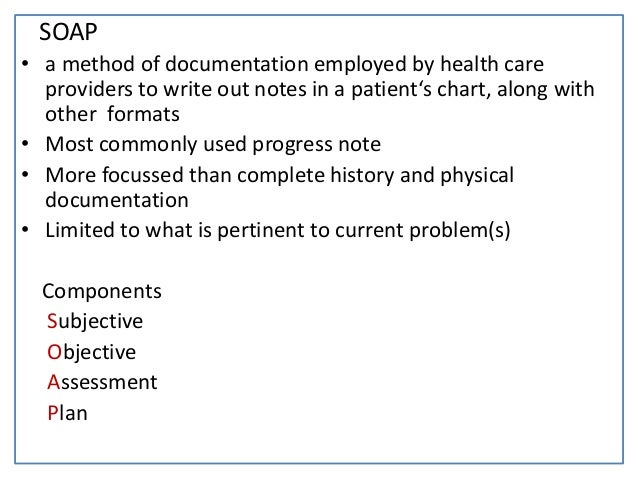 Medical Chart Notes Notes in a Patient's Chart