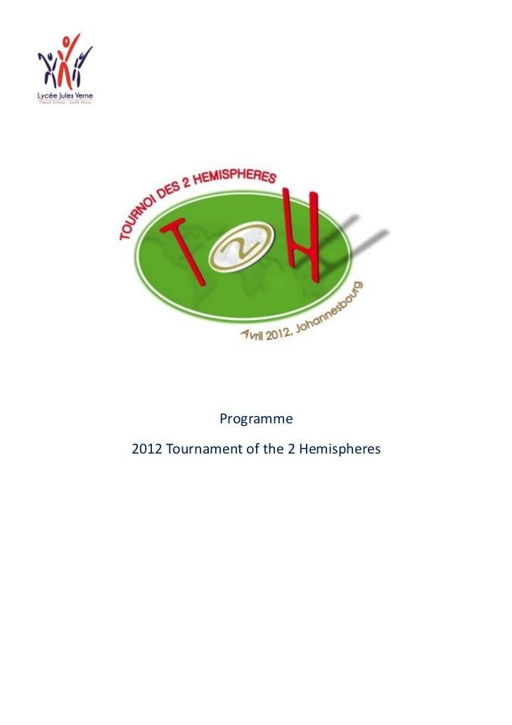 Programme2012 Tournament of the 2 Hemispheres