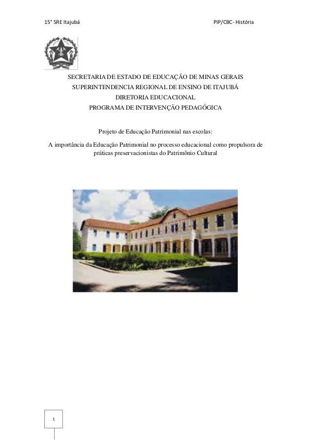 Projeto de Educação Patrimonial