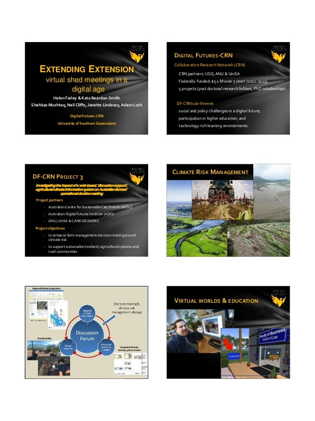 Extending Extension: Virtual Shed Meetings in a Digital Age