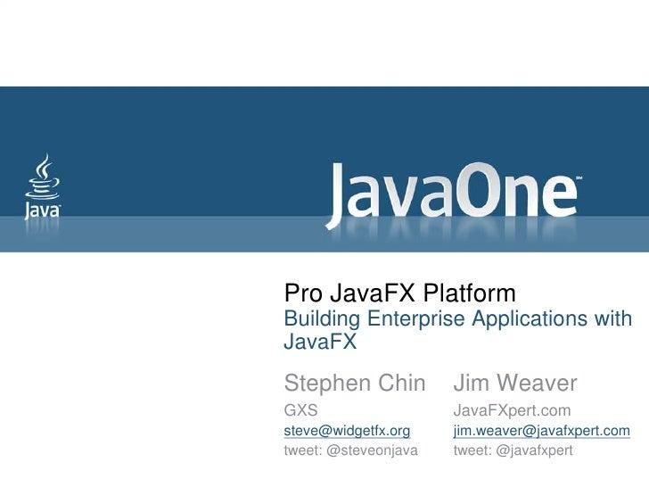 Pro JavaFX Platform - Building Enterprise Applications with JavaFX