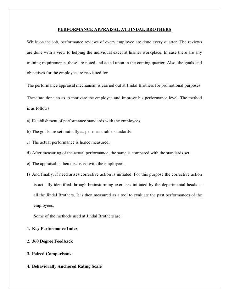 Need help writing my appraisal