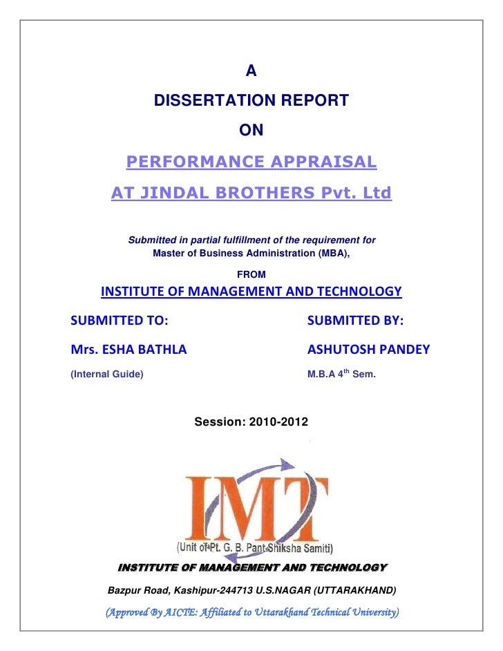 Dissertation On Employee Training And Development