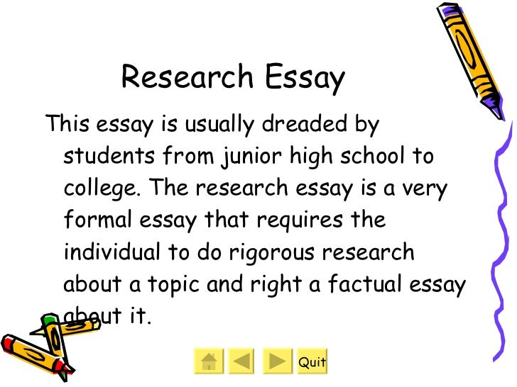 Kinds And Types Of Essay