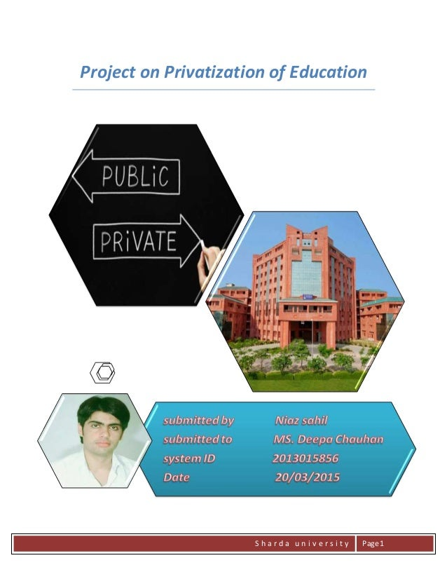 privatisation education india essay