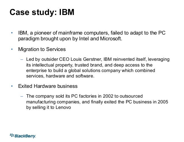 mgm ibm case study Strategic ananlysis this is a comprehensive case analysis of ibm includes : five forces framework pestel swot qspm bcg and other.