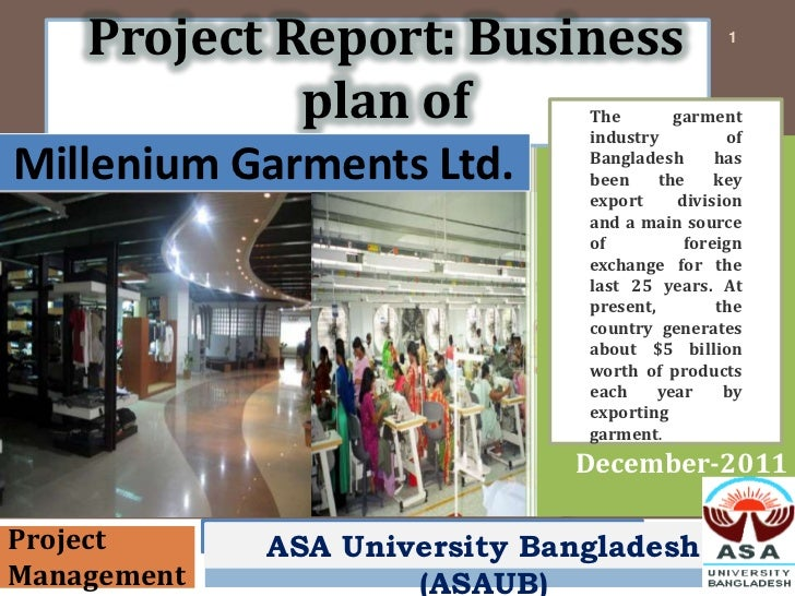Project Report: Business                    1             plan of           The                               industry    ...