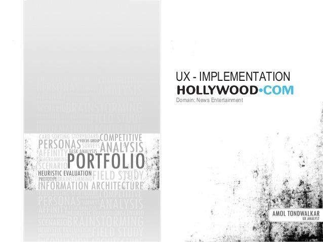UX Approach - hollywood.com